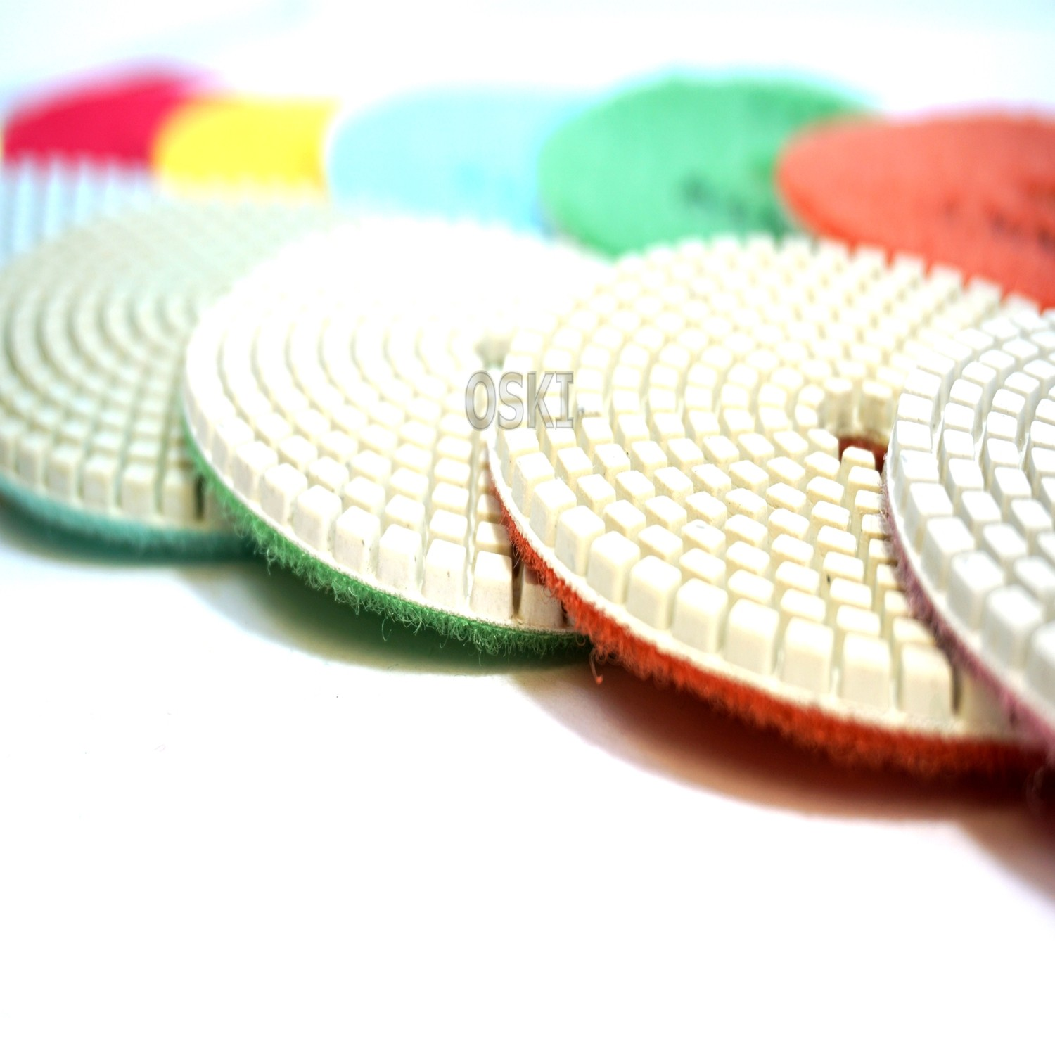 "4"" White Wet Polishing Pads"