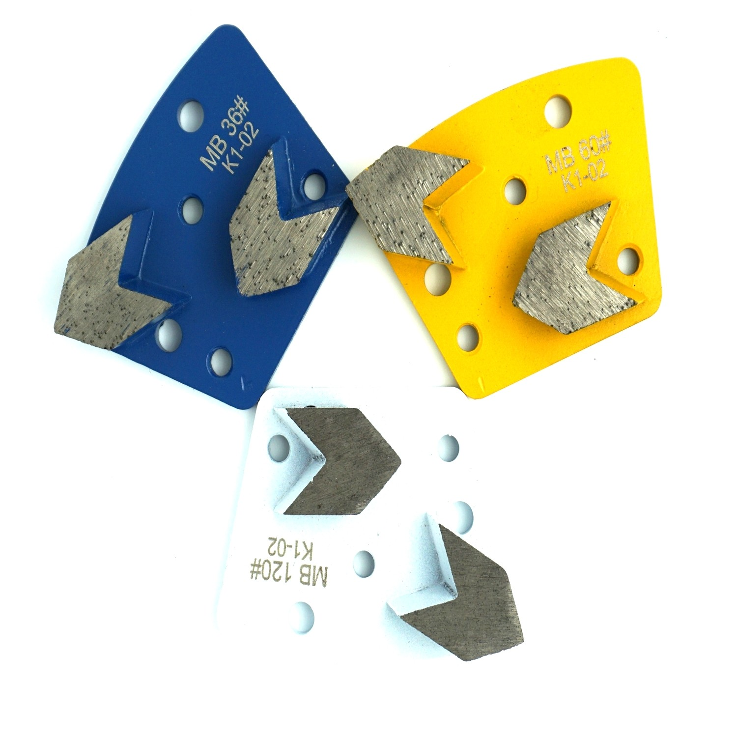 Trapezoid Arrow Grinding Plates - Left(Counter Clockwise)
