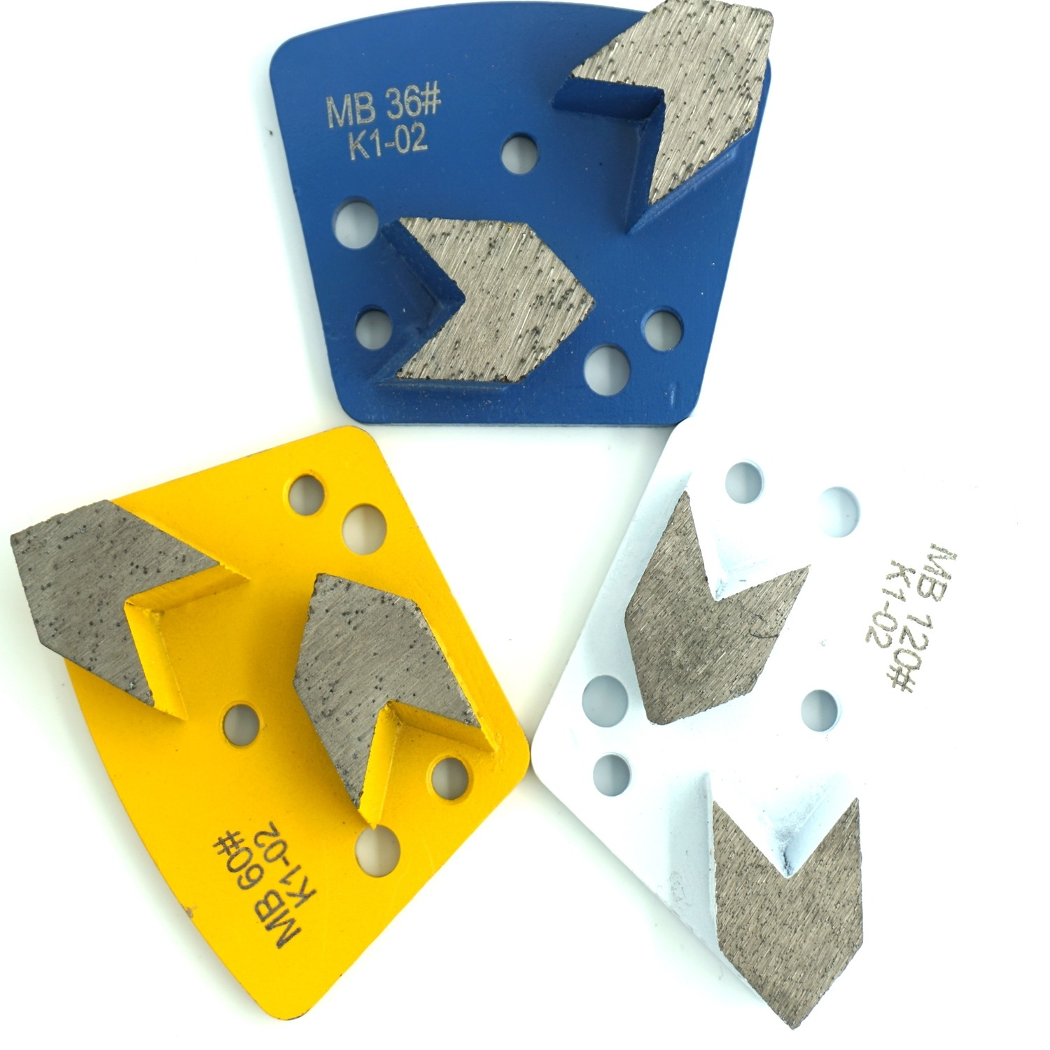 Trapezoid Arrow Grinding Plates - Right(Clockwise)