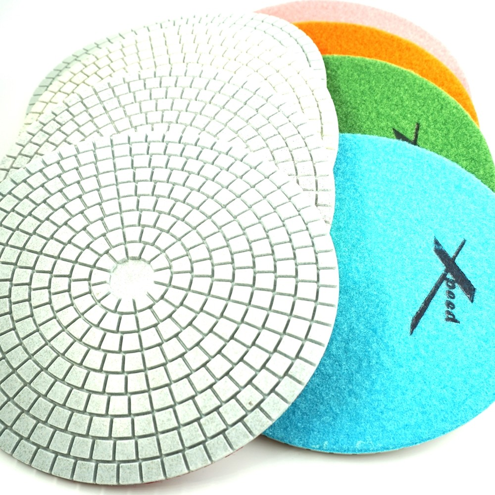 7in Concrete Polishing Pads-Dry