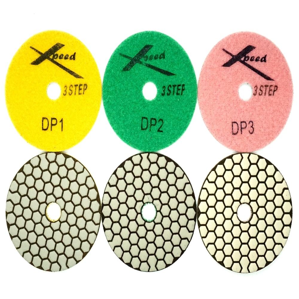 "4"" 3 Step Dry Polishing Pads"